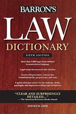 Law Dictionary By Gifis, Steven H.